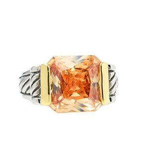 Light Topaz Crystal Ring, sz 6, 7 or 8, NWT